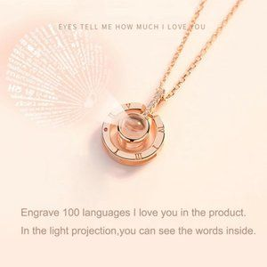 Pendant Necklace with Light Projection